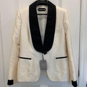 Tom Ford Chalk White Blazer Size 44